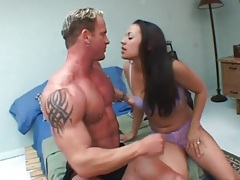 They kiss and she sucks his thick cock tubes
