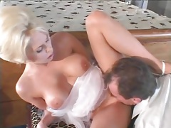 Busty blonde stripped of corset and ass fucked tubes
