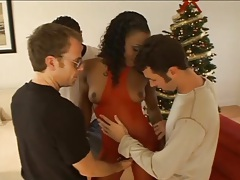 Black chick gangbanged by lots of white cocks tubes