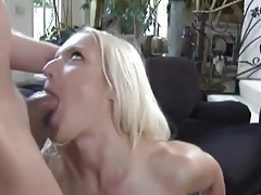 Blonde strips off lace panties for ass fuck tubes