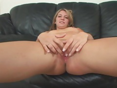 Blonde fucked by big black cock wants his cum tubes