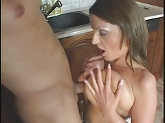 Titjob turns him on to nail this shaved mom pussy tubes