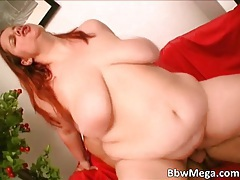 Nasty redhead MILF slut with big tits gives head to big cock and gets fucked tubes