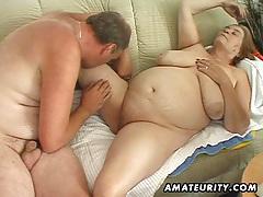 Chubby mature amateur wife sucks and fucks tubes