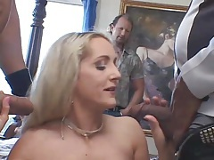 Fake tits on the married woman in a threesome tubes