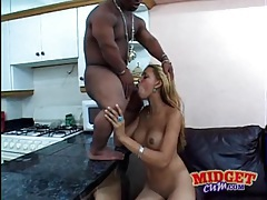 Black midget with big cock fucks perky tits beauty tubes