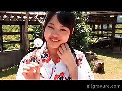Kimono on a cutie flashing her panties tubes