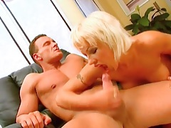 Watch close up as she jerks off cock and it cums tubes