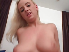 Curvy body on a blonde fucked in POV tubes