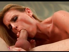 Blonde milf hottie with tramp stamp is into anal tubes
