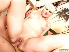 Luscious lipstick on the anal cock riding girl tubes