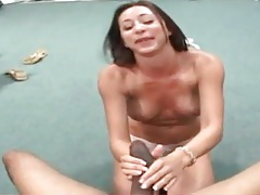 Big black cock she blows ends up in her cunt tubes