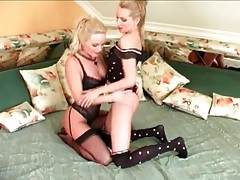 Lingerie looks sexy on a pair of hot lesbian chicks tubes