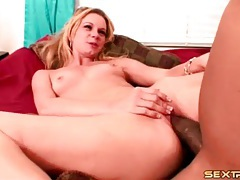 Blonde with chick cock of a black guy inside her tubes