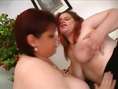 Lesbian BBW double dildo penetration tubes