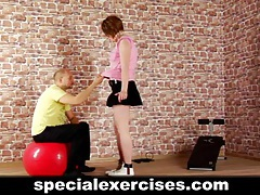Slave girl trained by coach tubes