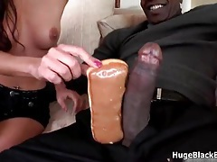 Petite girl loves fucking and sucking a giant black cock tubes