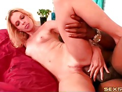Slow fucking of giant cock into white pussy tubes