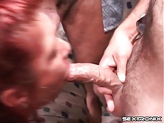 Blacking the pussy of the milf with pierced nips tubes