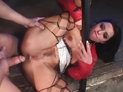 Belt around the neck of slut he fucks tubes