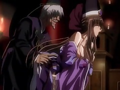 Erotic hentai lovemaking with purple haired beauty tubes