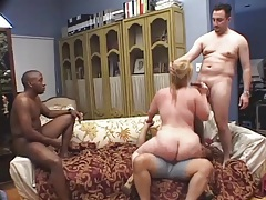 Interracial gangbang of a big fat slut tubes