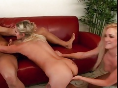 Licking and fucking in a terrific threesome tubes