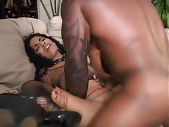 Black girls are anal sluts in threesome tubes