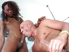 Black tranny cock up his asshole from behind tubes