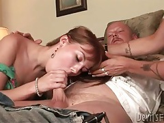 Young redhead and brunette mommy sucks dick tubes