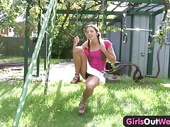 Girls out west - amateur teenie fingers her hairy muff tubes