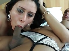 Girl pussy filled with tranny dick on top tubes