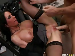 Fit and fabulous hottie with fake tits fucked tubes