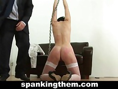 Spanked hard by angry boss tubes