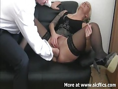 Fisting my bitch boss till she squirts tubes