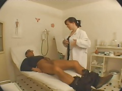 Doctor in stockings with a big ass fucked hard tubes