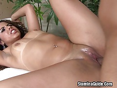 Hot latina monique fucked in her shave pussy tubes