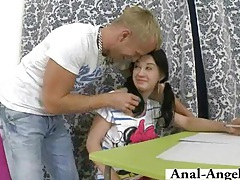Andrea and her man have anal tubes