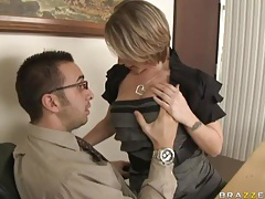 Hairy pussy milf fucked hardcore in office tubes