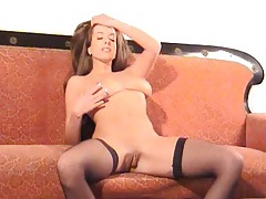 Stockings and heels are hot on big tits girl tubes