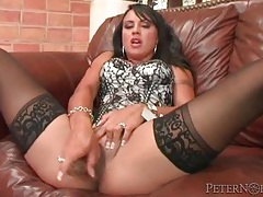 Corset and stockings on dildo fucking girl tubes