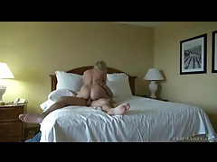 Cock riding blonde with a beautiful ass sits on him tubes