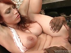 Redhead nicki hunter licked and fucked by black cock tubes