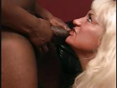 Chubby mom sucks off black cock lustily tubes