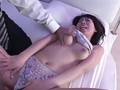 Eating out japanese pussy and playing with her tits tubes