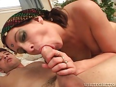 Sultry girl sits on a dick and rides it lustily tubes
