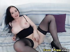 Babe shows her big tits and sweet pussy hd tubes