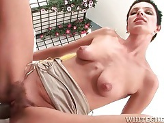 Skinny chick balled in that hot hairy cunt tubes