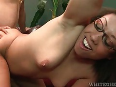 Mommy in glasses fucked in her hot pussy tubes