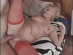Mature sex scene ends in a big facial tubes